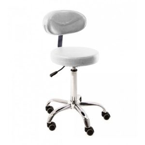stolicka biela rotary stool with backrest prodak