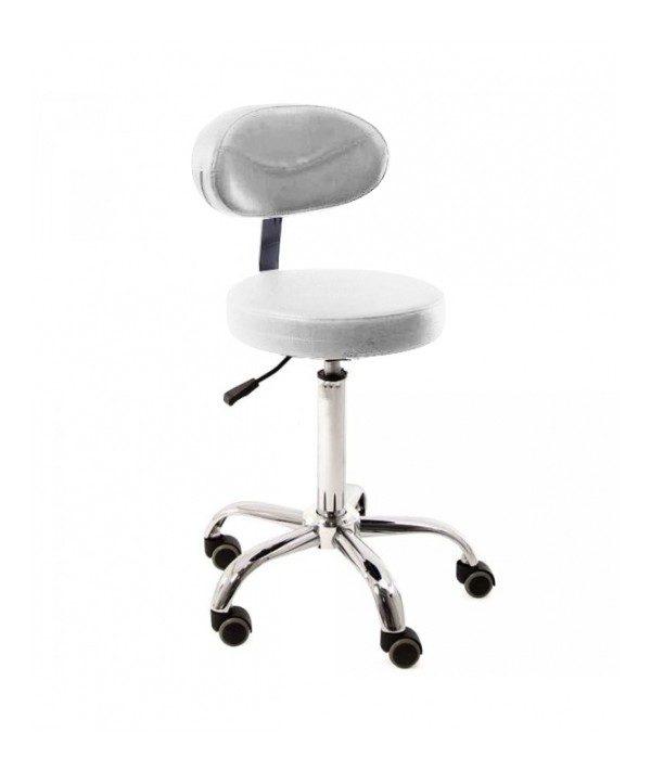 stolicka biela rotary stool with backrest prodak