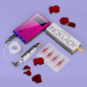 glovcon inox lady v2 zasilacz dotykowy glovcon slim purple zestaw do makijazu permanentnego