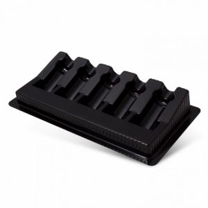 box of 50 pcs cartridge trays black