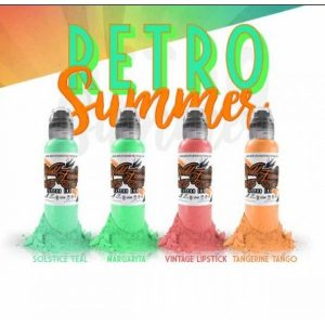 world famous ink damian gorski retro summer set 4x30ml