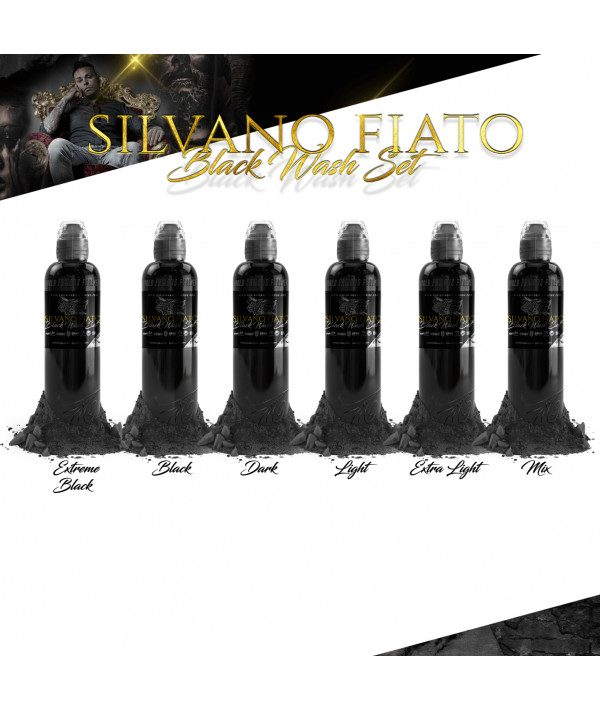 world famous ink silvano fiato black wash set 1oz 6x30ml prodak